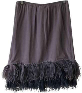 Cavallini Erika Purple Silk Skirt for Women