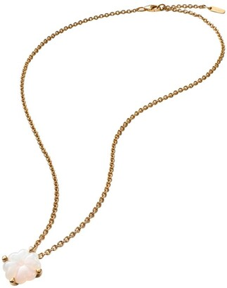 Baccarat Gold-Plated Sterling Silver and Crystal Trefle Choker Necklace