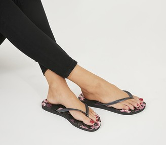 Havaianas Slim Organic Flip Flops Black
