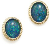 Bloomingdale's Opal Triplet Bezel Medium Stud Earrings in 14K Yellow Gold - 100% Exclusive