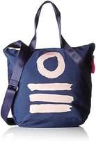 Oilily Fun Nylon Shopper Lvz, Women's Satchel, Blau (Dark Blue), 10x38x32 cm (B x H T)