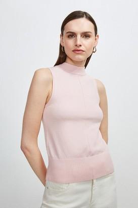 Karen Millen Button Back Sleeveless Knit Top