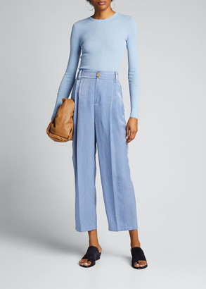 Vince Tapered Hammered Satin Culottes
