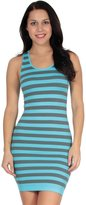 Simplicity Women Striped Summer Mini Tank Dress