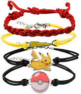 Pokemon Army Party Leather Bracelet Set of Four