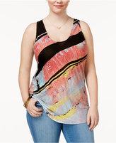 Rachel Roy Trendy Plus Size Printed Tank Top