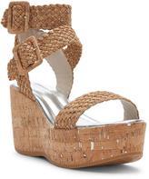 Donald J Pliner Women's CYNDI - Woven Distressed Metallic Cork Wedge Sandal