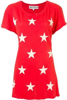 Wildfox Couture longline star print T-shirt
