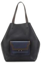 Marni Hexagonal Trunk leather shopper