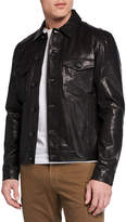 J Brand Men's Acamar Lamb Leather Jacket