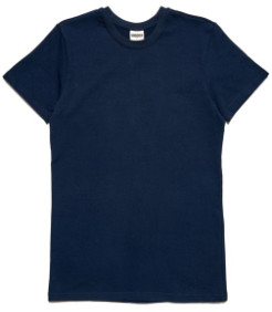 Arnold & Co - Navy Ss Forge Denim Heavy Tee - S - Blue