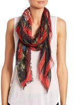 Alexander McQueen Floral Tablecloth Silk & Modal Scarf