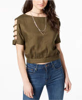 J.o.a. Cutout Tie-Detail Top