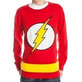 Bioworld Flash Logo DC Comics Adult Knit Pullover Sweater