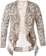 House of Fraser Chesca Scribble Print Shrug With Lace Trim