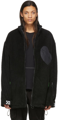 Off-White Black Fleece Equipment Jacket