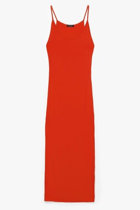Nasty Gal Womens Throw On and Go Strappy Maxi Dress - Orange