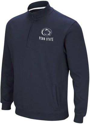 Colosseum Men's Navy Penn State Nittany Lions Big & Tall Playbook Fleece Quarter-Zip Pullover Jacket