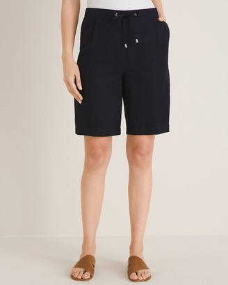 Chico's Linen Tie-Front Shorts