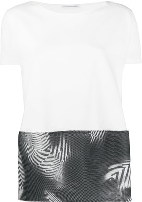 Stefano Mortari printed mesh-panelled T-shirt