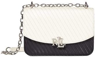 Lauren Ralph Lauren Quilted Smooth Madison 22 Crossbody Medium (Vanilla/Lauren Navy) Handbags