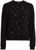 Monrow Embellished Raglan Sleeve Pullover
