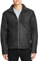 Cole Haan Leather Fleece Lined Jacket