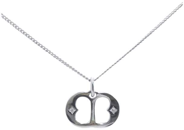 De Beers 18K White Gold & Diamond Necklace