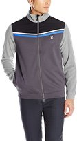 Izod Men's Long-Sleeve Defender's Chevron Full-Zip Knit Golf Jacket