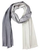 Ombra Cashmere & Silk Scarf, Gray/Silver