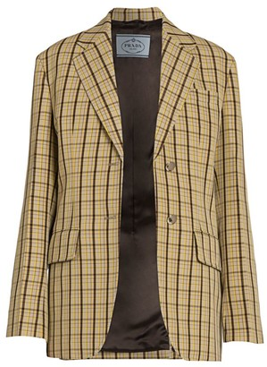 Prada Micro Check Jacket