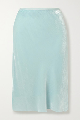 Helmut Lang Velvet Skirt - Light blue