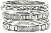 JCPenney Bold Elements 14-pc. Silver-Tone Bangle Bracelet Set