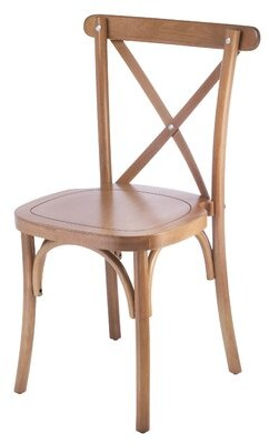 August Grove Gambrel Cross Back Dining Chair in Honey