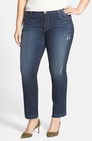 KUT from the Kloth Plus Size Women's 'Reese' Released Hem Distressed Stretch Ankle Jeans