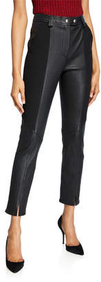 A.L.C. Devin Leather Combo Skinny Pants