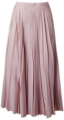 Akris Punto Crushed Sunray Plisse Midi Skirt
