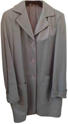 L'Autre Chose Leather Coat for Women