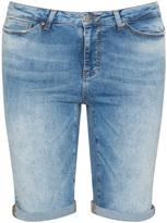 Junarose Plus Size Distressed denim Bermuda shorts