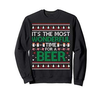 wonderful time for a beer Ugly Christmas Sweaters Sweatshirt