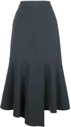 Tibi Flared Midi Skirt