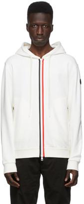 Moncler White Knit Stripe Hoodie