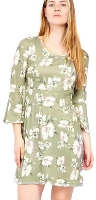 M&Co Izabel flared sleeve shift dress