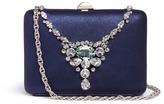 Rodo Jewelled necklace glitter satin clutch bag