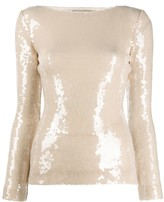 Roland Mouret Mosta sequinned top