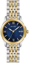 Bulova Women's Dress Two-Tone Stainless Steel Bracelet Watch 27mm 98M124