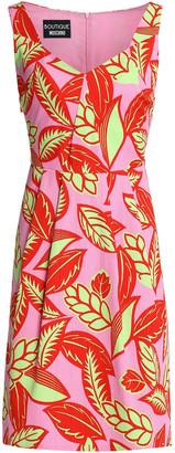 Boutique Moschino Printed Cotton-blend Jacquard Dress