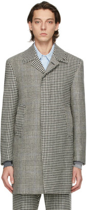 Thom Browne Black and White Prince Of Wales Funmix Hunting Coat
