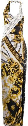 Versace Baroque-print long dress