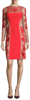 Temperley London Marsha Lace Panel Sheath Dress